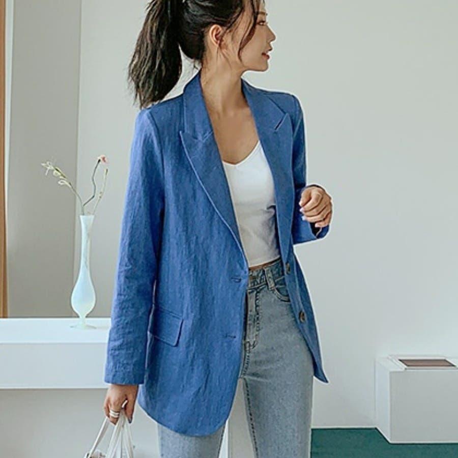 [ENVYLOOK]リネンバックスリットテーラードジャケット★韓国ファッション/カジュアル/デイリールック/フェミニンルック/オルチャンファッション/プチプラ/ストリート 4