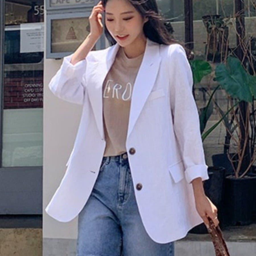 [ENVYLOOK]リネンバックスリットテーラードジャケット★韓国ファッション/カジュアル/デイリールック/フェミニンルック/オルチャンファッション/プチプラ/ストリート 16