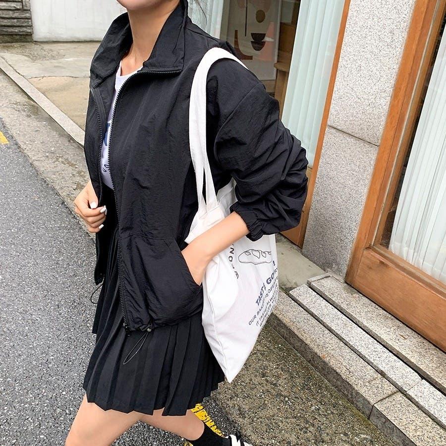 [ENVYLOOK]ストリング裾ハイネックジップアップ★韓国ファッション/カジュアル/デイリールック/フェミニンルック/オルチャンファッション/プチプラ/ストリート 3