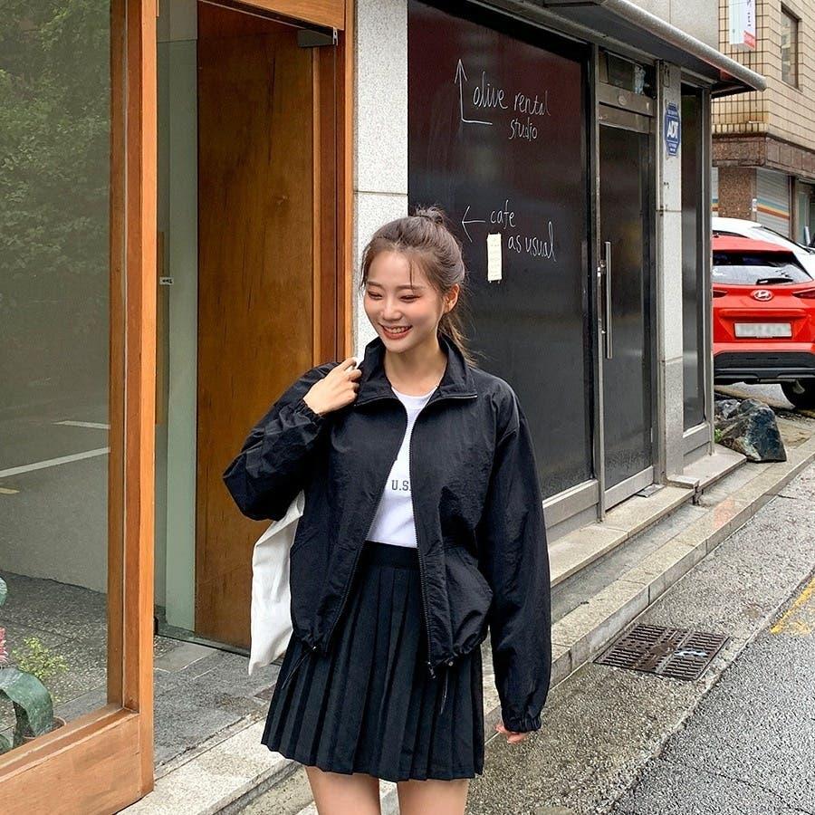 [ENVYLOOK]ストリング裾ハイネックジップアップ★韓国ファッション/カジュアル/デイリールック/フェミニンルック/オルチャンファッション/プチプラ/ストリート 4