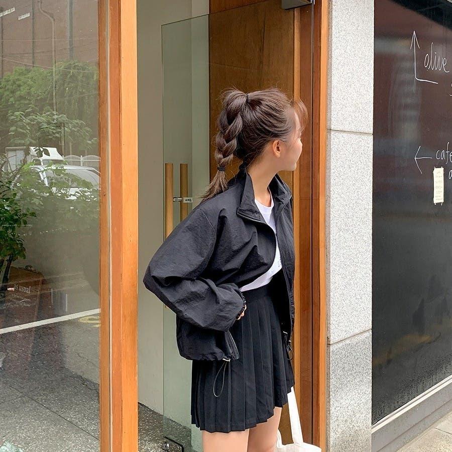 [ENVYLOOK]ストリング裾ハイネックジップアップ★韓国ファッション/カジュアル/デイリールック/フェミニンルック/オルチャンファッション/プチプラ/ストリート 6