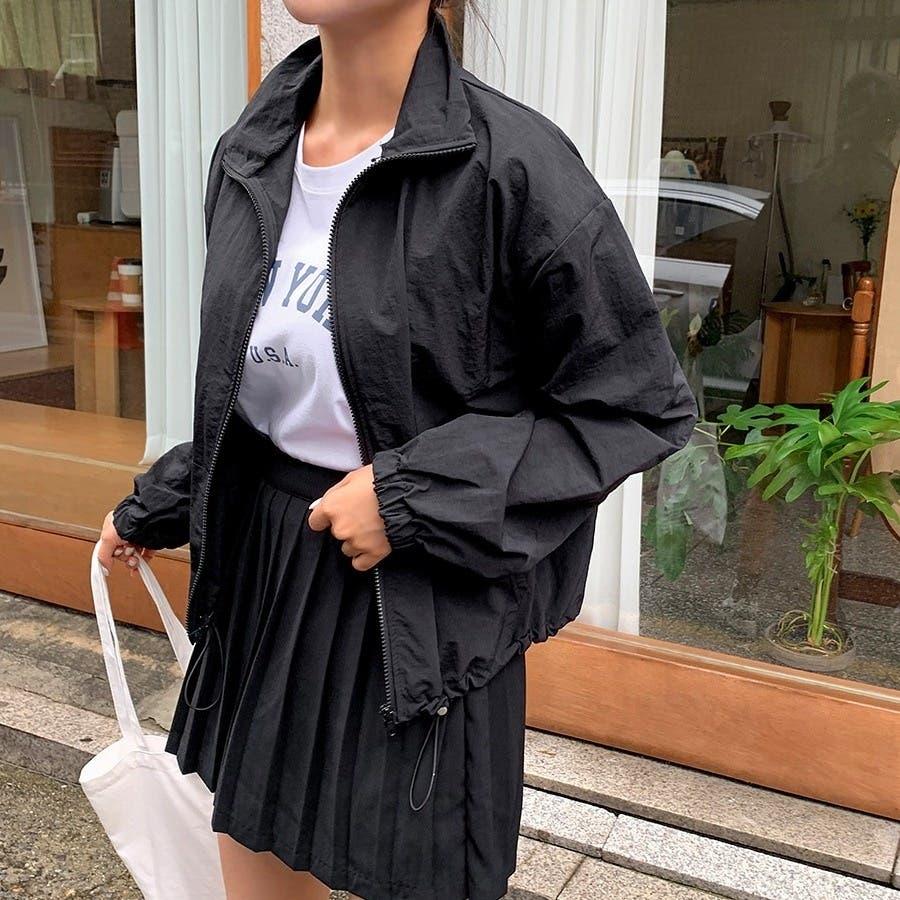 [ENVYLOOK]ストリング裾ハイネックジップアップ★韓国ファッション/カジュアル/デイリールック/フェミニンルック/オルチャンファッション/プチプラ/ストリート 21