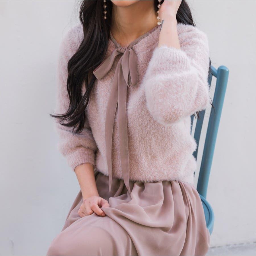 シャギーラウンドニット★韓国ファッション/カジュアル/デイリールック/フェミニンルック/オルチャンファッション 90