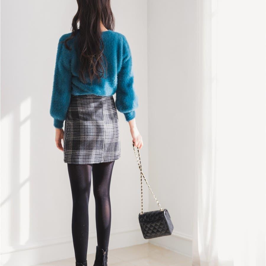 シャギーラウンドニット★韓国ファッション/カジュアル/デイリールック/フェミニンルック/オルチャンファッション 2