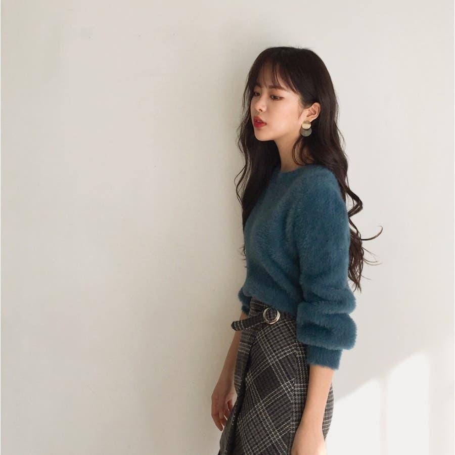シャギーラウンドニット★韓国ファッション/カジュアル/デイリールック/フェミニンルック/オルチャンファッション 3