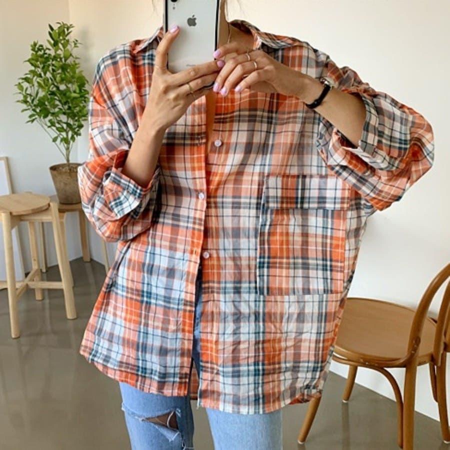 [ENVYLOOK]ビビッドチェックルーズシャツ★韓国ファッション/カジュアル/デイリールック/フェミニンルック/オルチャンファッション/プチプラ/ストリート 4