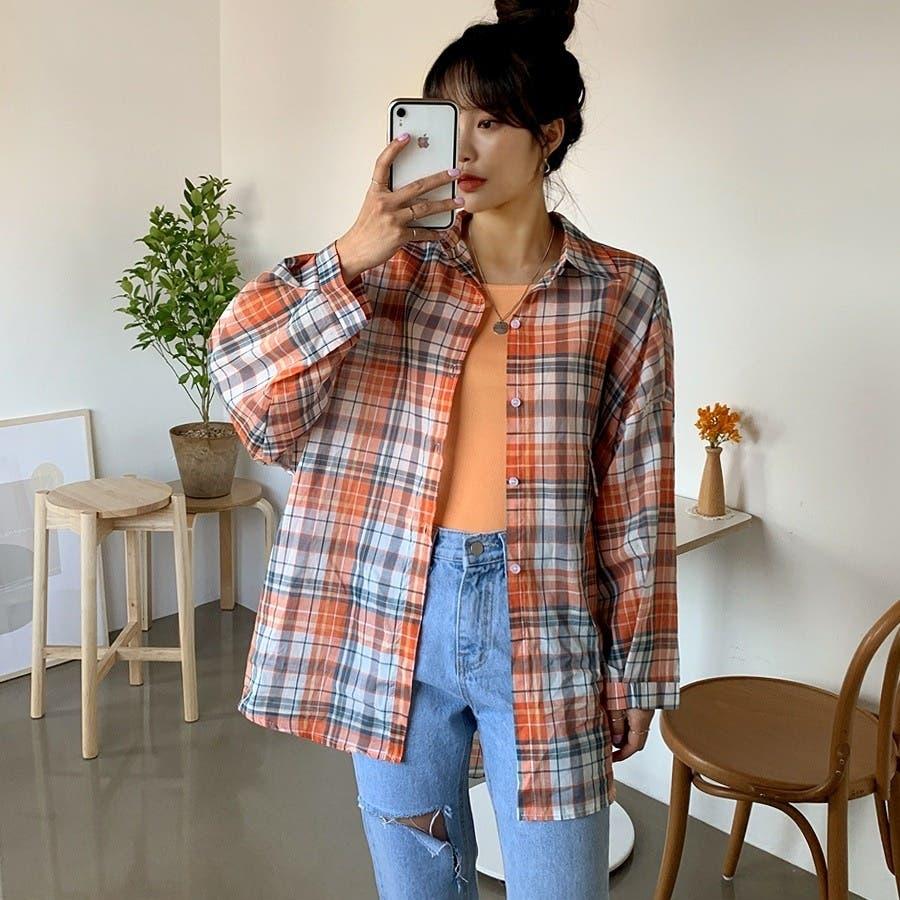 [ENVYLOOK]ビビッドチェックルーズシャツ★韓国ファッション/カジュアル/デイリールック/フェミニンルック/オルチャンファッション/プチプラ/ストリート 99