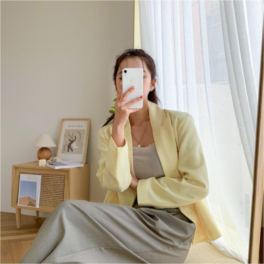 バックゴムウエストタックロングワイドスラックス★韓国ファッション/カジュアル/デイリールック/フェミニンルック/オルチャンファッション 8