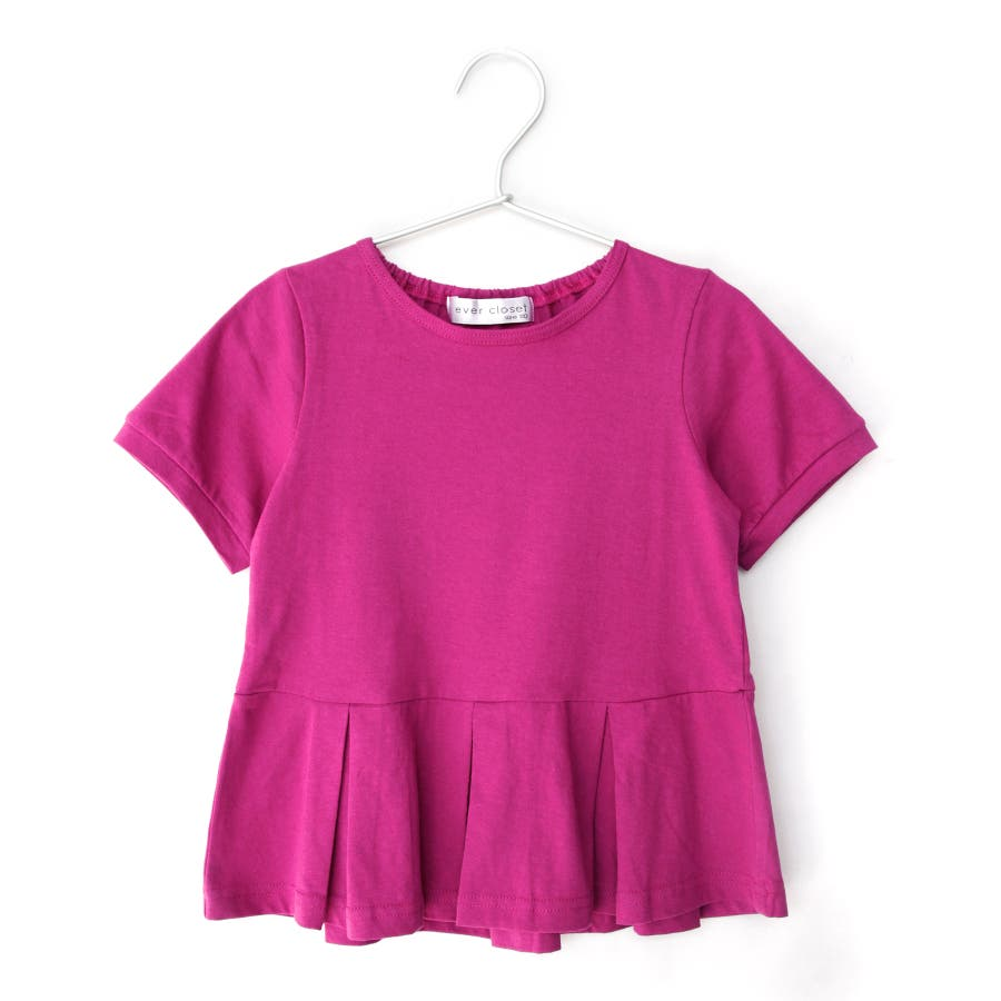 [メーカーのモノづくりブランドever closet] ガールズデザインTシャツ スカラップ フリル ティアード 女の子 半袖半そでトップス Tシャツ 80cm 90cm 100cm 110cm 120cm 130cm ベビー 子供服 キッズ 子供 こども子どもダンス 82