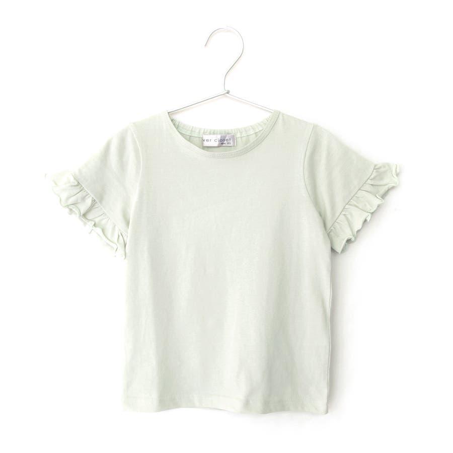 [メーカーのモノづくりブランドever closet] ガールズデザインTシャツ スカラップ フリル ティアード 女の子 半袖半そでトップス Tシャツ 80cm 90cm 100cm 110cm 120cm 130cm ベビー 子供服 キッズ 子供 こども子どもダンス 58