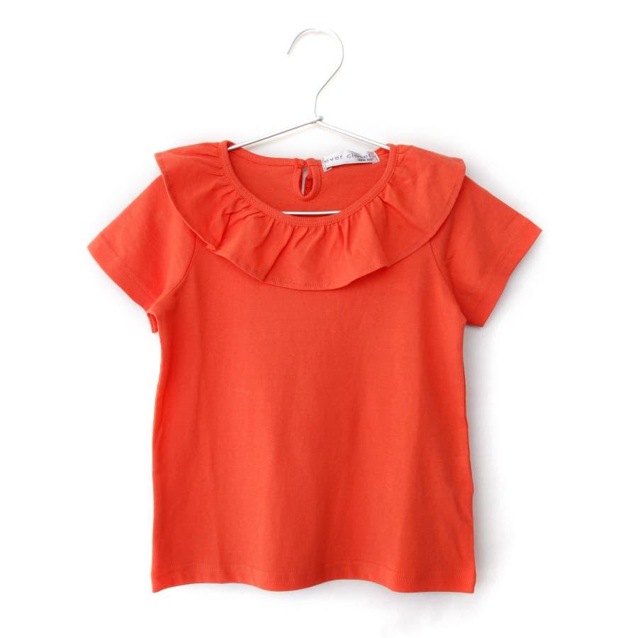 [メーカーのモノづくりブランドever closet] ガールズデザインTシャツ スカラップ フリル ティアード 女の子 半袖半そでトップス Tシャツ 80cm 90cm 100cm 110cm 120cm 130cm ベビー 子供服 キッズ 子供 こども子どもダンス 102