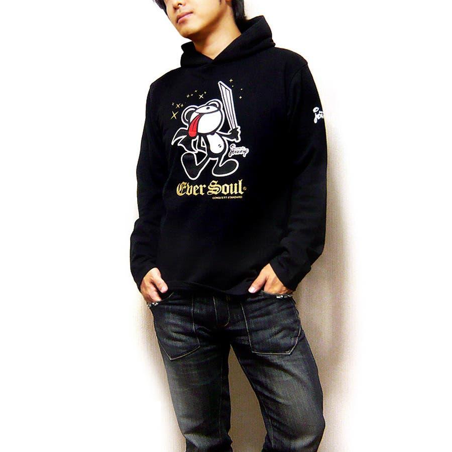 安っぽくなくていー感じ! メンズファッション通販パーカー メンズ プルパーカー プルオーバーパーカー 「ASSASSIN JOHNNYPK MK 」殺し屋ジョニーキャラクタープリントミニ裏毛プルオーバーパーカー! 日本製 MADE IN JAPAN メンズパーカー 呼応