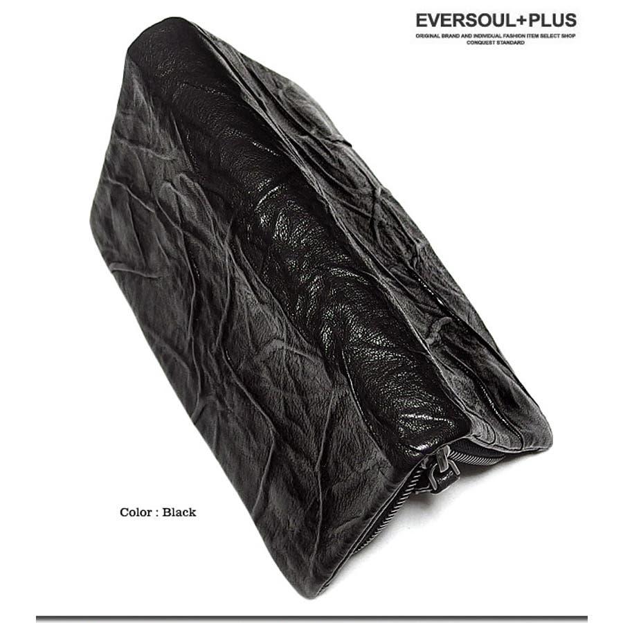財布 長財布 レザー 本革 ラウンドファスナー メンズ 男性用 ロングウォレット ジッパー 革 シワ加工 ビンテージ 黒 ブラック 6