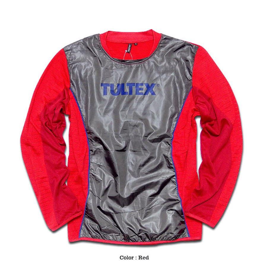 これからのシーズン活用間違いなし! TULTEX タルテックス ピステ プルオーバー スポーツウェア ジムウェア ランニング ウォーキング  針抜きフリース異素材切替ピステ! 誤見