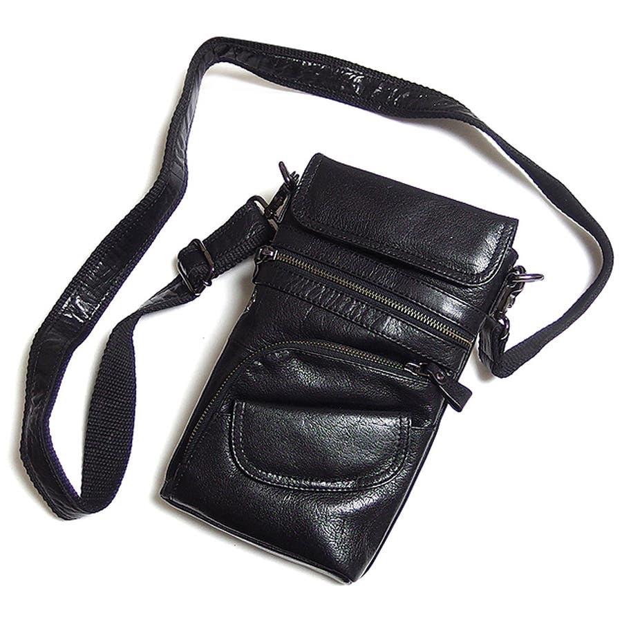 0b8f1df753845 ... 斜めがけ ブラック かばん 革   本革レザーで · EVERSOULのバッグ ショルダーバッグ