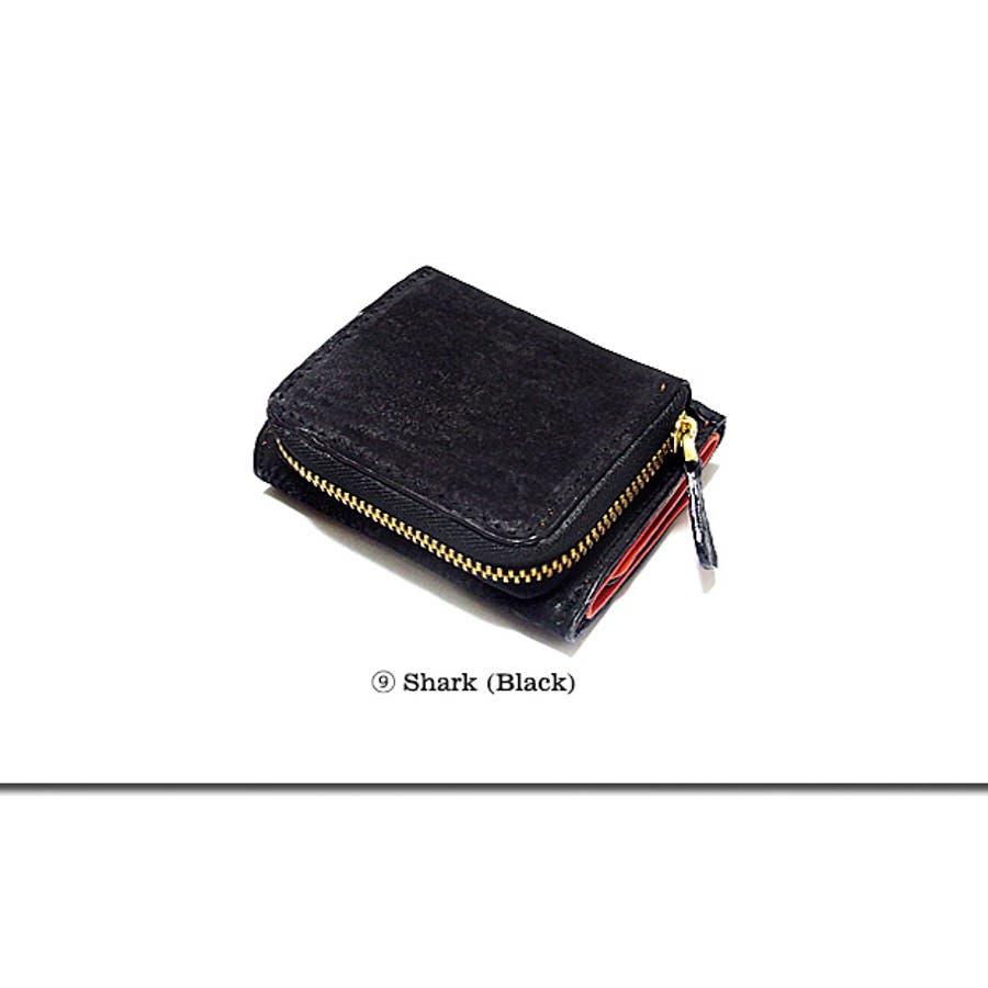 サイフ 財布 コンパクトウォレット ミニ財布 二つ折り メンズ レディース レザー 本革 パイソン ヘビ革 / 必要な機能だけを小さなサイズに集約した本革コンパクトウォレット! 7