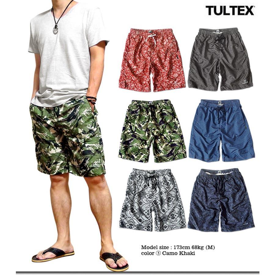 海水パンツ 海パン スイムウェア 水着 男性用 メンズ トランクス おしゃれ 大きいサイズ サーフパンツ TULTEX 派手 総柄 プリント 2