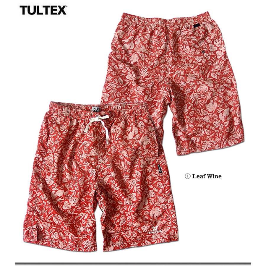 海水パンツ 海パン スイムウェア 水着 男性用 メンズ トランクス おしゃれ 大きいサイズ サーフパンツ TULTEX 派手 総柄 プリント 3