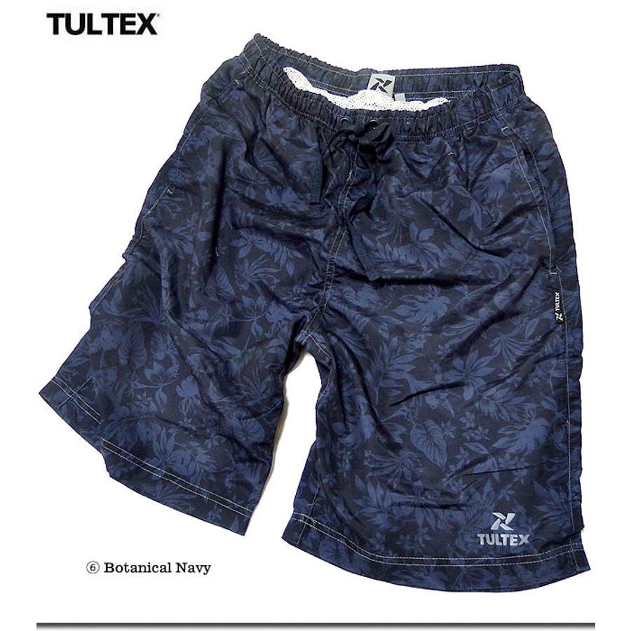 海水パンツ 海パン スイムウェア 水着 男性用 メンズ トランクス おしゃれ 大きいサイズ サーフパンツ TULTEX 派手 総柄 プリント 4