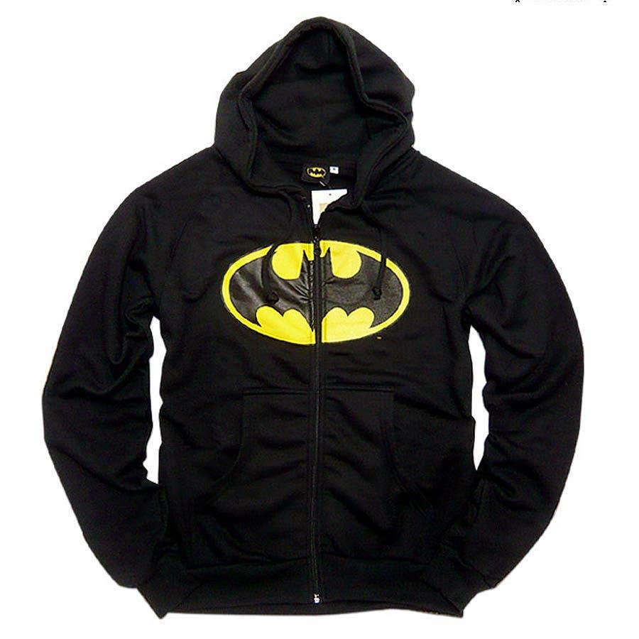 一着は持っておきたい メンズファッション通販バットマン パーカー グッズ  バットマン×ミニットマースのアメコミバットマンマークプリントコラボ裏起毛パーカー! バットマン大きいサイズ キングサイズ 黒ブラック 緊要