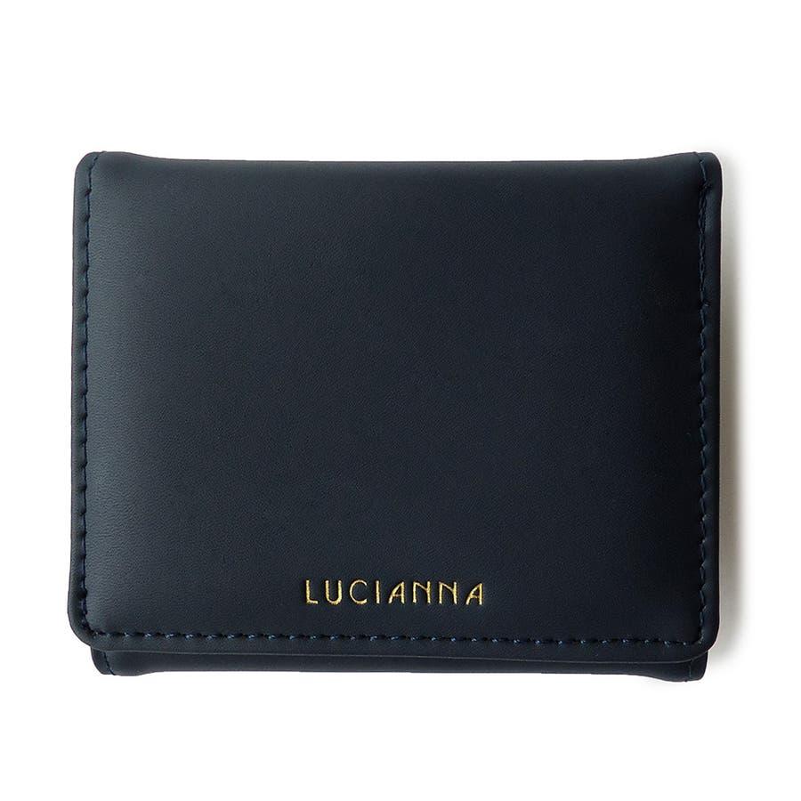 「三つ折り財布 コンパクト」極小財布 小さい財布 64