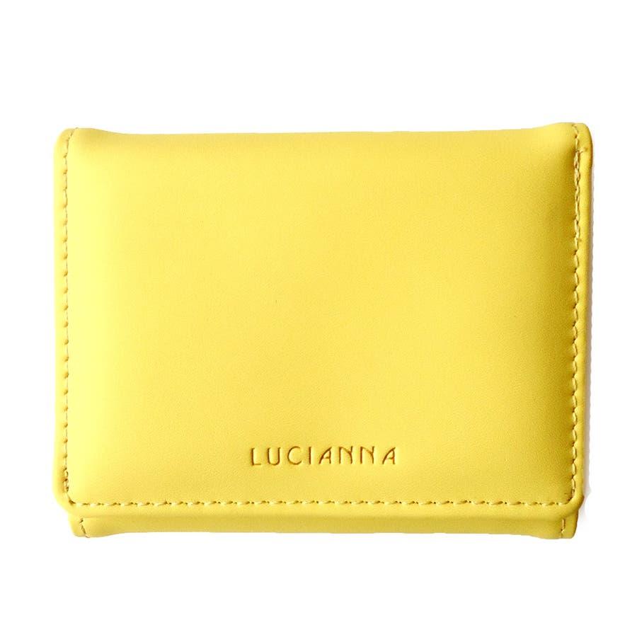 「三つ折り財布 コンパクト」極小財布 小さい財布 83