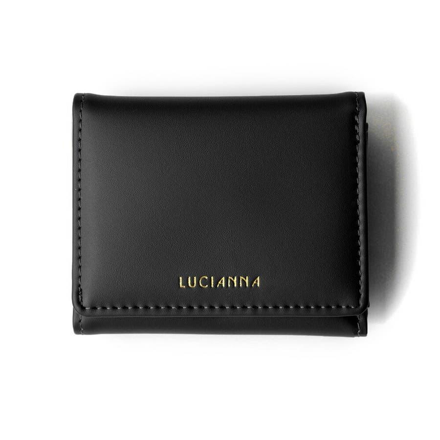 「三つ折り財布 コンパクト」極小財布 小さい財布 21