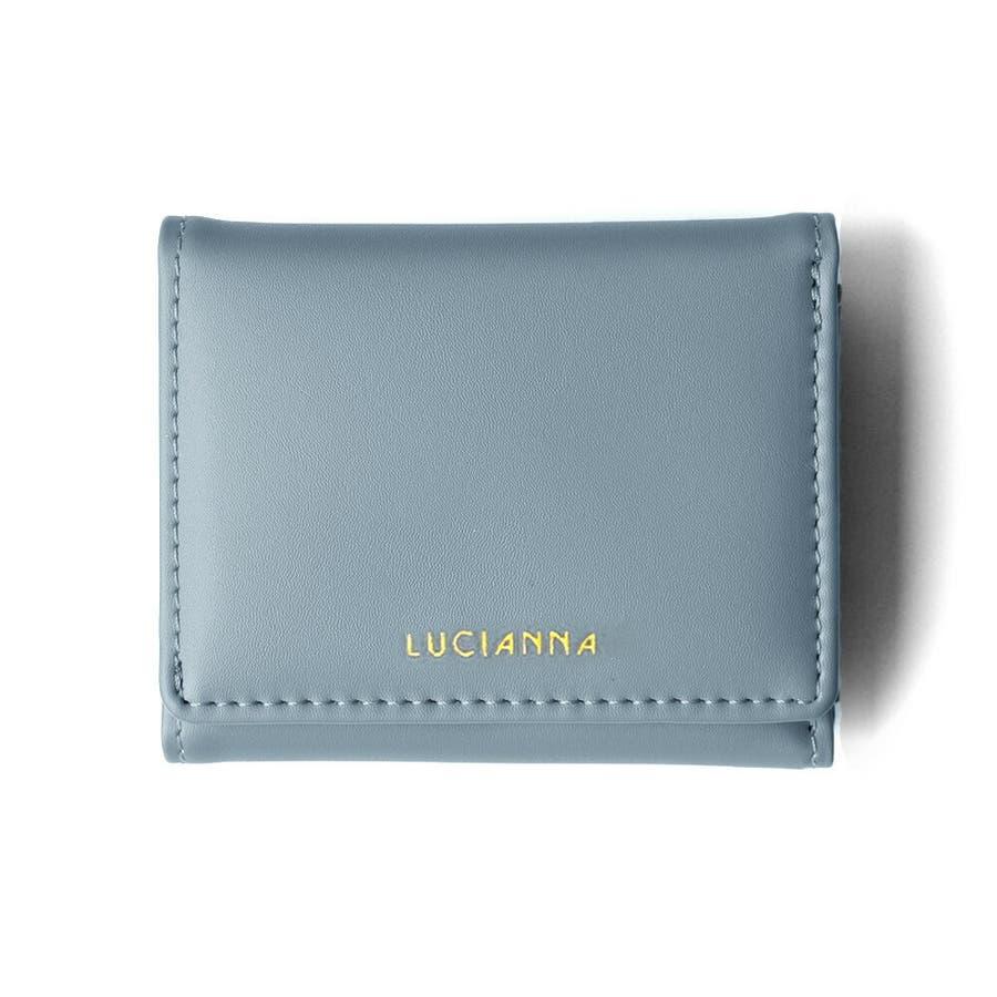 「三つ折り財布 コンパクト」極小財布 小さい財布 60
