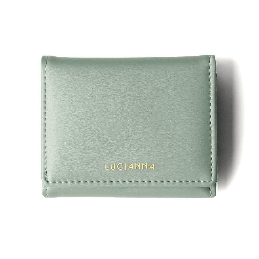 「三つ折り財布 コンパクト」極小財布 小さい財布 67