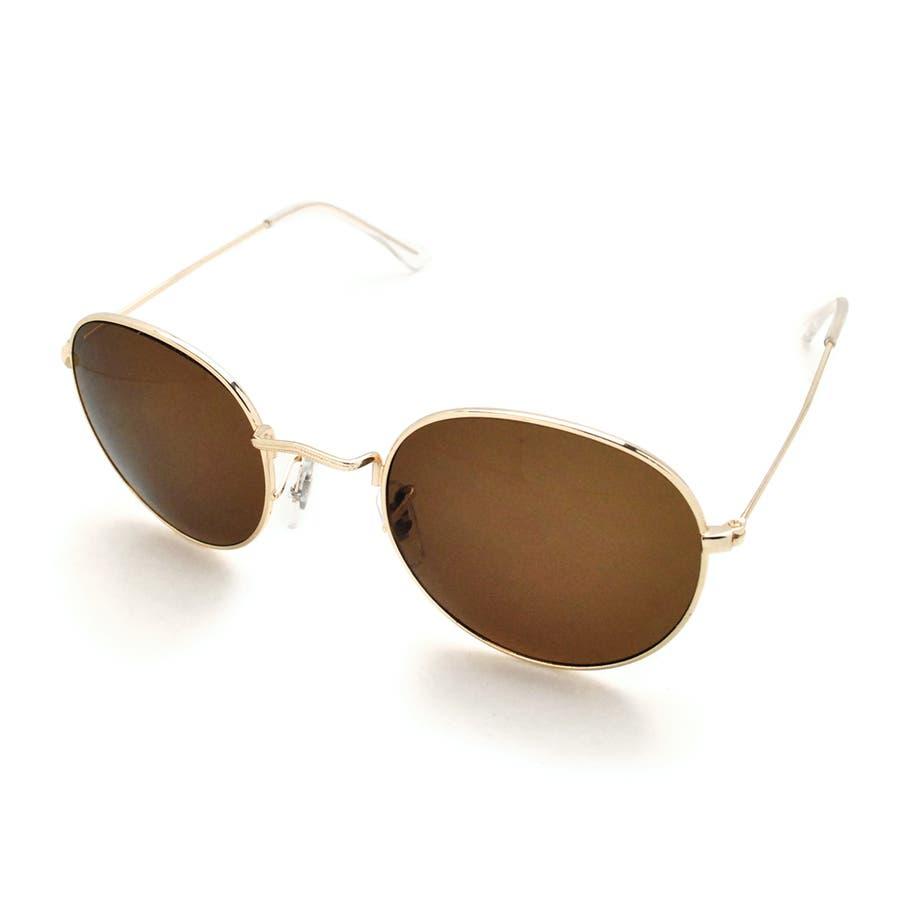 ボストン型メタルフレームUVサングラス 眼鏡 めがね 5