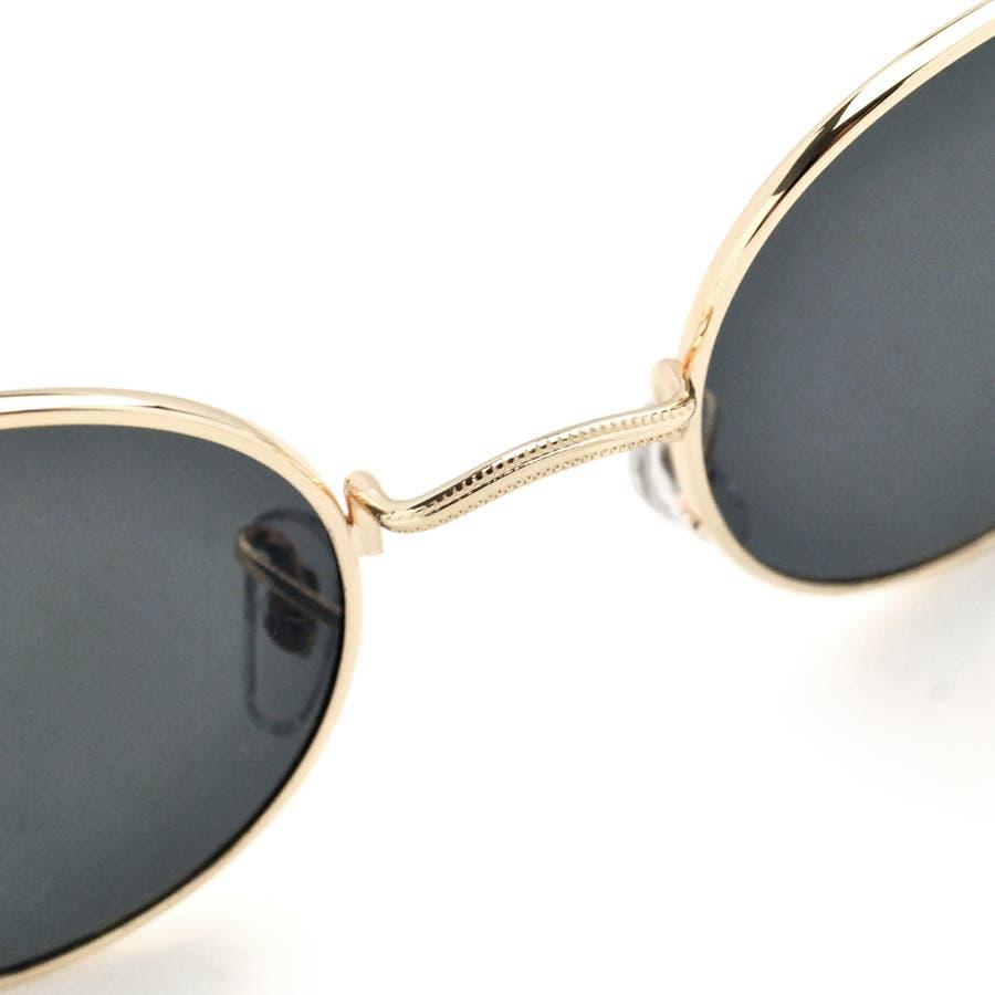 ボストン型メタルフレームUVサングラス 眼鏡 めがね 6