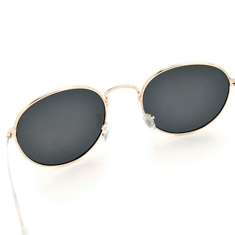 ボストン型メタルフレームUVサングラス 眼鏡 めがね 7