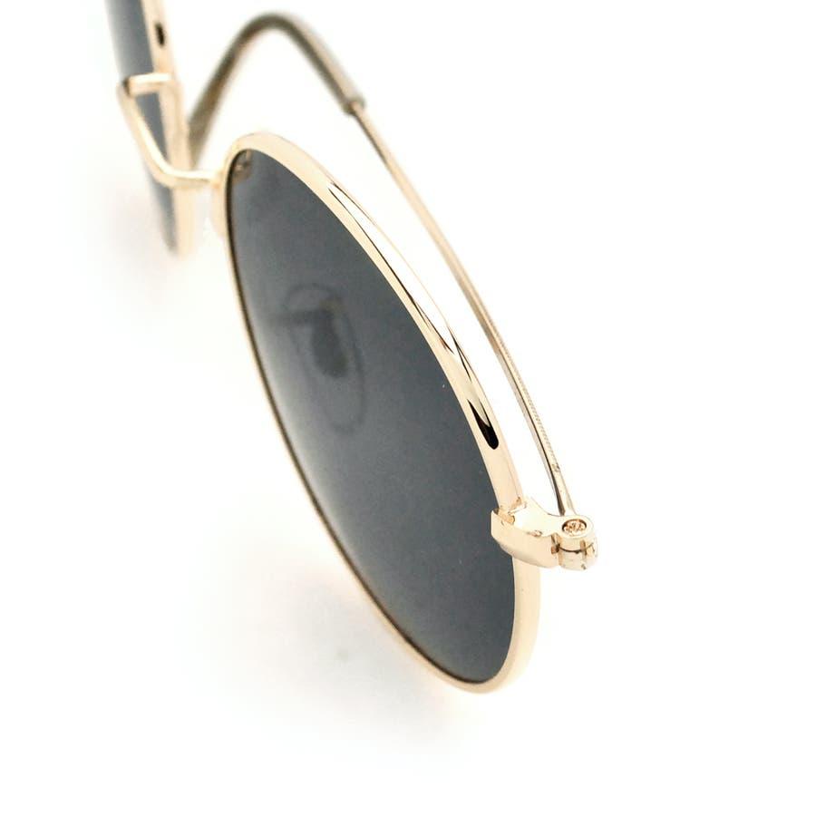 ボストン型メタルフレームUVサングラス 眼鏡 めがね 8