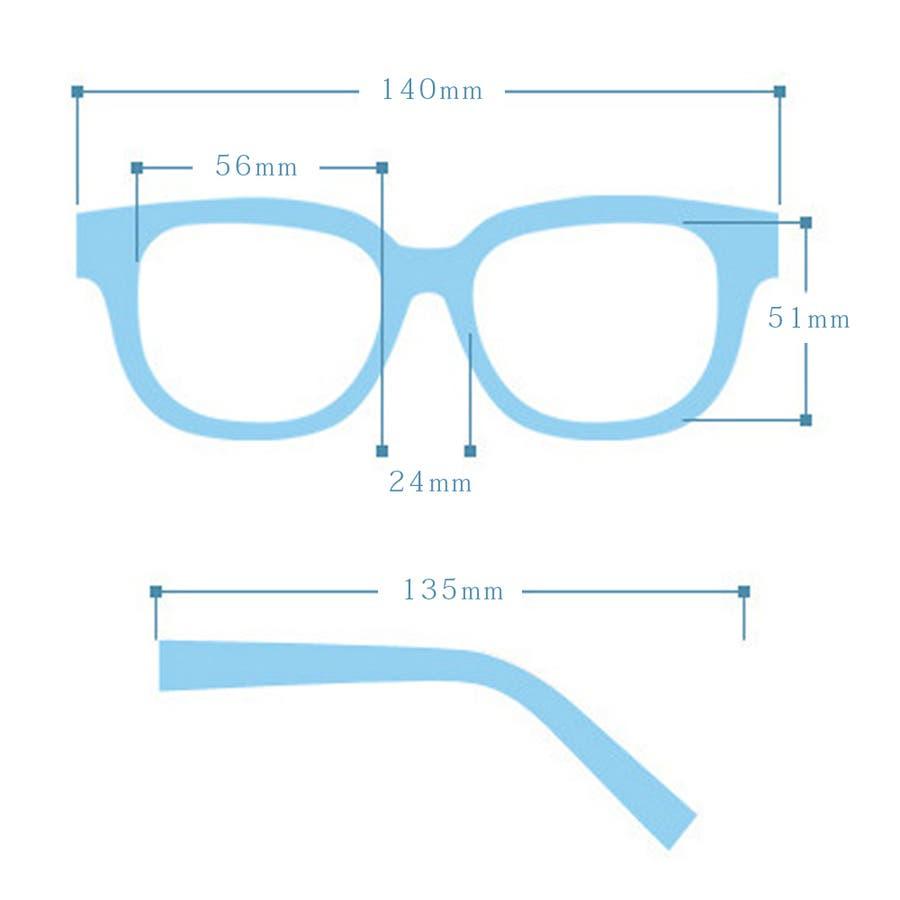 ボストン型メタルフレームUVサングラス 眼鏡 めがね 9