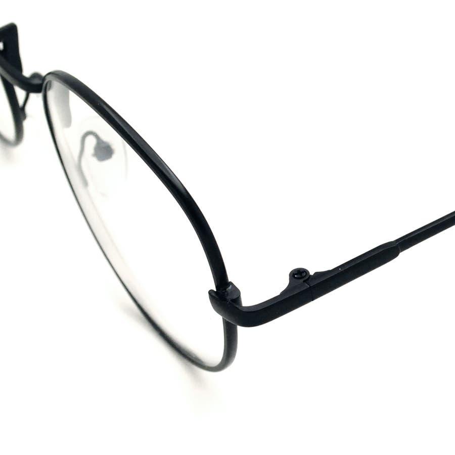 ボストン型アンティーク調UV 伊達メガネ 眼鏡 めがね UVカット UV400 紫外線 メタルフレーム サングラス 黒縁 黒ぶち ブラック シルバー ブラウン ゴールド 細フレーム クラシック レトロ 小顔 レディース メンズ 女性 男性 ユニセックス 8