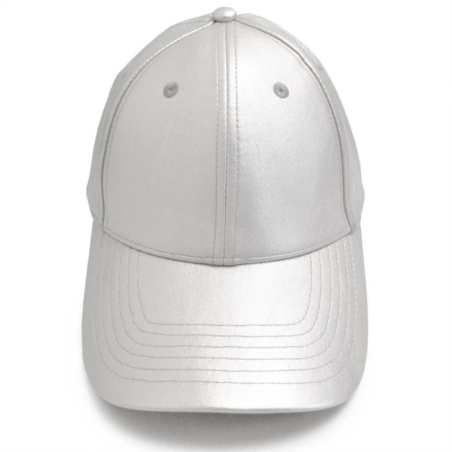 PUレザーキャップ 帽子 野球帽 ベースボールキャップ 原宿 シルバー ブラック 春 夏 サイズ調整可 キャップコーデ レディース メンズ ユニセックス 男女兼用 アメカジ 韓国ファッション K-POP オルチャン 海外セレブ PUレザー 合皮  5
