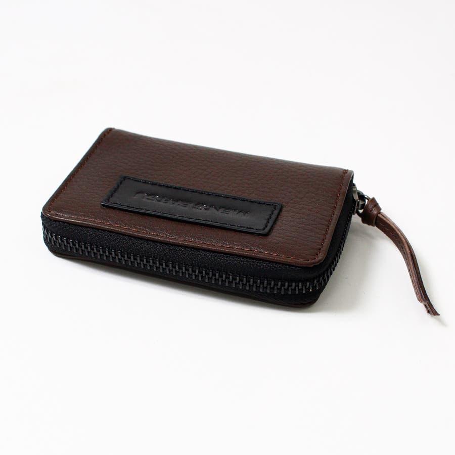 4color ラウンド式 ボックス コインケース メンズ 本革 ブランド 革 カード ファスナー 小銭入れ レザーボックス型コンパクト パスケース ミニ財布 スリム ポケット 機能性 万能 便利 黒 青 ブラウン オレンジ lbc-0014 10