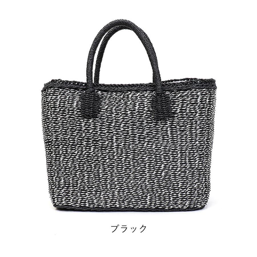 2019SS カゴバッグ ストローバッグ レディース トートバッグ かご バッグ バケットバッグ 大人可愛い スクエア B5サイズシルバーラメ ブラック オフホワイト 10
