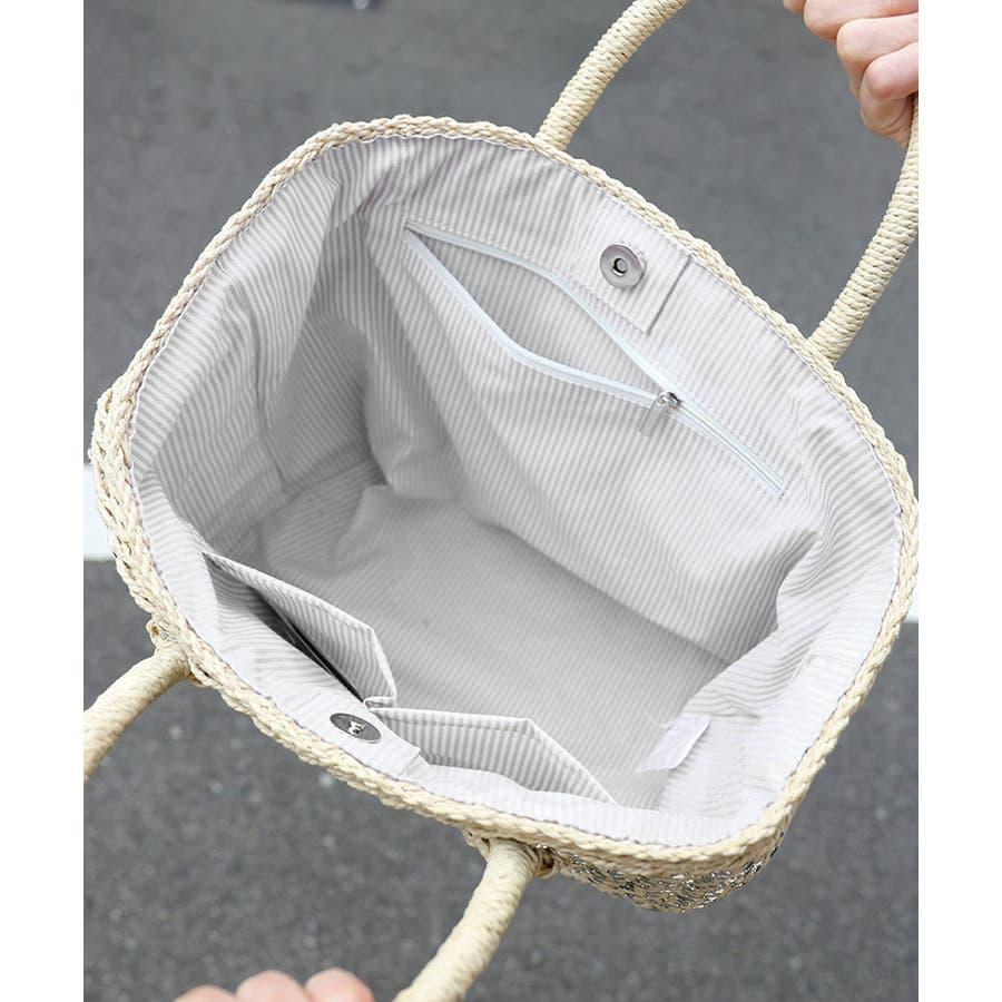 2019SS カゴバッグ ストローバッグ レディース トートバッグ かご バッグ バケットバッグ 大人可愛い スクエア B5サイズシルバーラメ ブラック オフホワイト 9