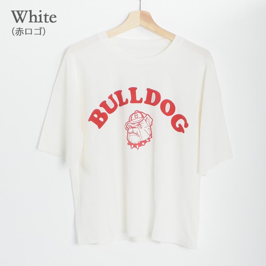 肌触りの良いTシャツ生地に、存在感のあるブルドッグのプリントが可愛い♪ プリント 20