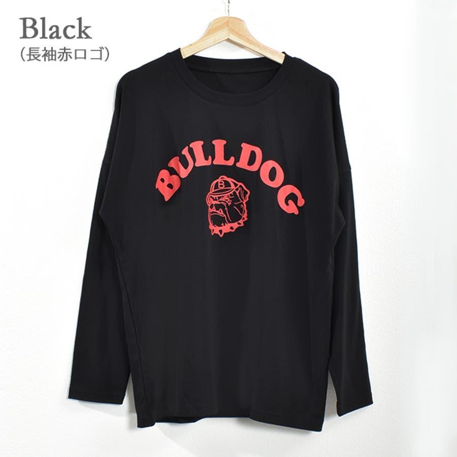 肌触りの良いTシャツ生地に、存在感のあるブルドッグのプリントが可愛い♪ プリント 22