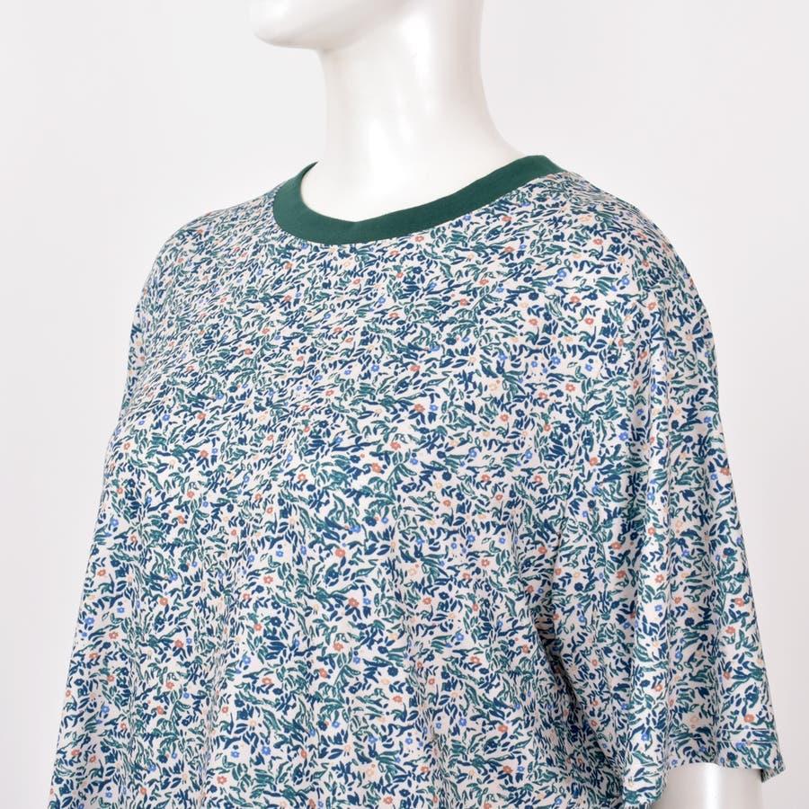 2020新作 リバティプリントTee 小柄レトロ着痩せルーズ合わせやすいカジュアルTシャツ 夏にピッタリ花柄の半袖Tシャツ 7