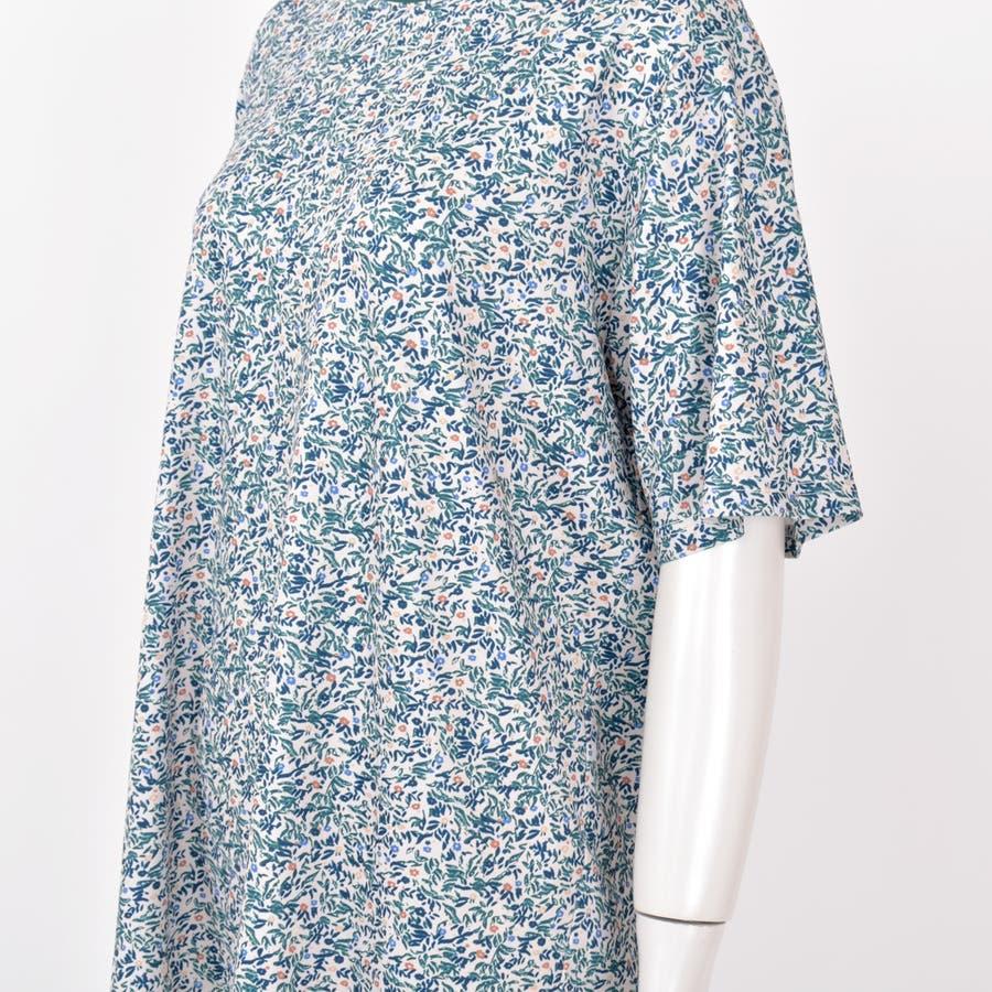 2020新作 リバティプリントTee 小柄レトロ着痩せルーズ合わせやすいカジュアルTシャツ 夏にピッタリ花柄の半袖Tシャツ 8