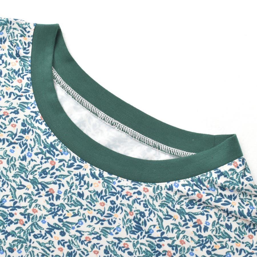2020新作 リバティプリントTee 小柄レトロ着痩せルーズ合わせやすいカジュアルTシャツ 夏にピッタリ花柄の半袖Tシャツ 9