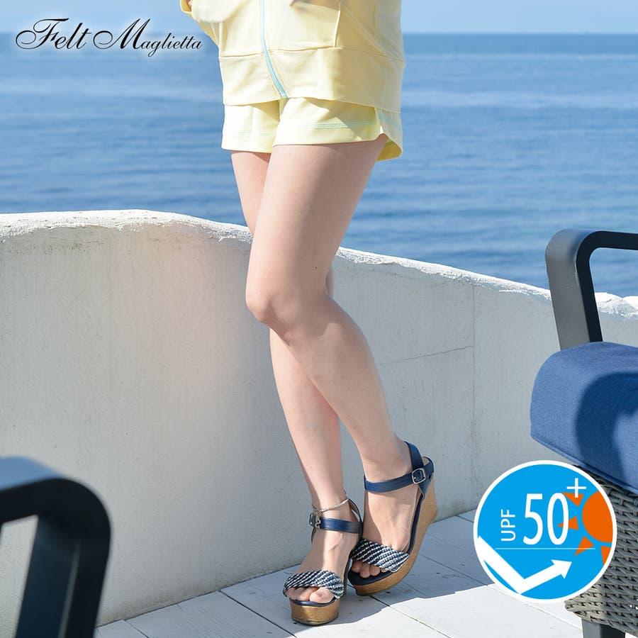 UPF50+ラッシュガードショートパンツ給水速乾◎機能的!!夏の必須アイテム♪/紫外線対策/海/旅行/リゾート/UVカット/UVケア/マリン/ヨガ/夏/プール海水着 ショーパン ラッシュガード 春 83