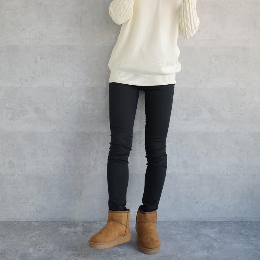 新作冬の必須アイテムムートンブーツ♪ラクチンであったかい◎シンプルなベーシックデザインだから合わせやすい☆/ブーツ/ムートンブーツ/冬ショートブーツ 靴 3