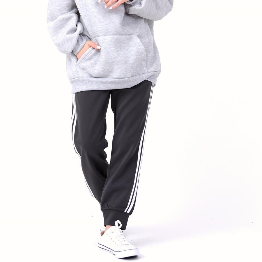 伸縮性があり動きやすく、着やすい人気のサイドラインパンツ パンツ スポーツ 5