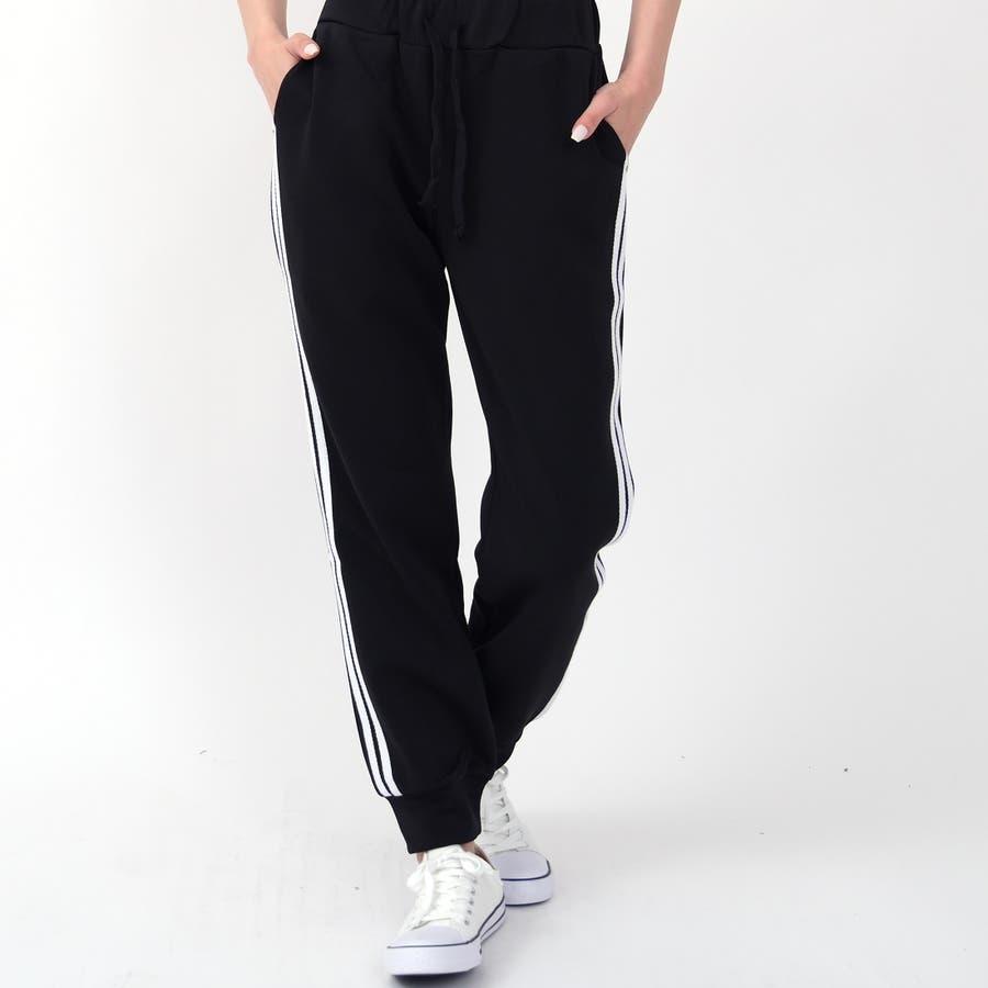 伸縮性があり動きやすく、着やすい人気のサイドラインパンツ パンツ スポーツ 6