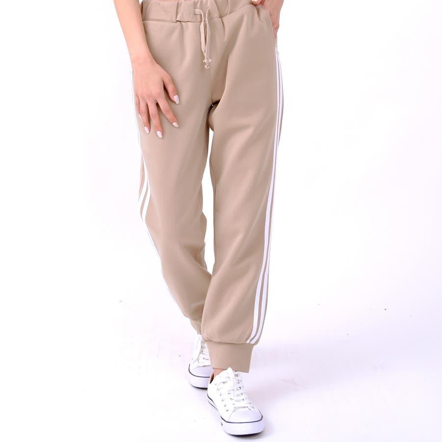 伸縮性があり動きやすく、着やすい人気のサイドラインパンツ パンツ スポーツ 35