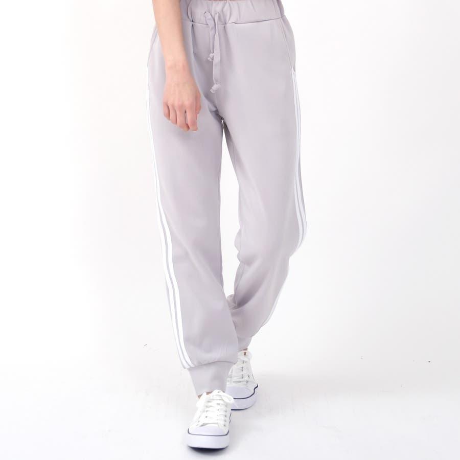伸縮性があり動きやすく、着やすい人気のサイドラインパンツ パンツ スポーツ 24